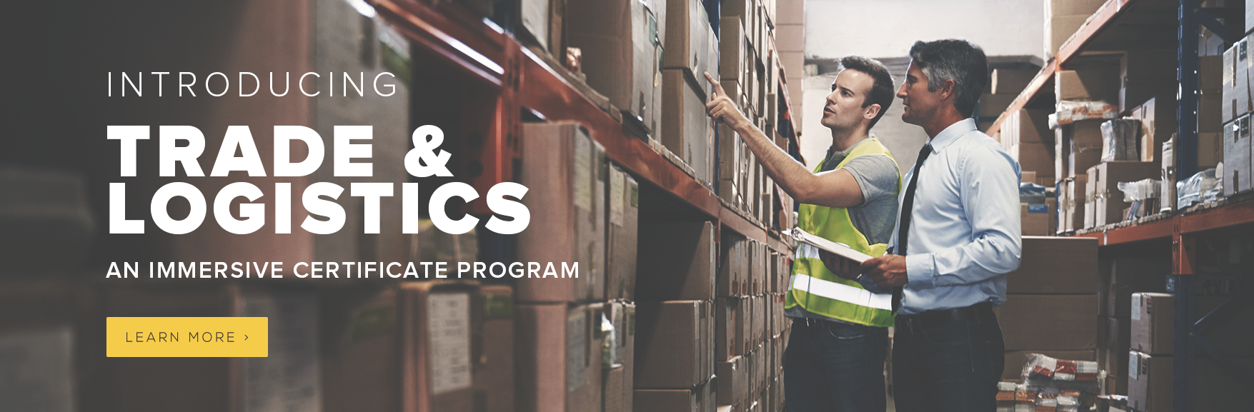 Introducing Trade & Logistics - An immersive certificate program