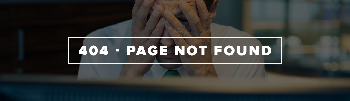 Page Not Found banner